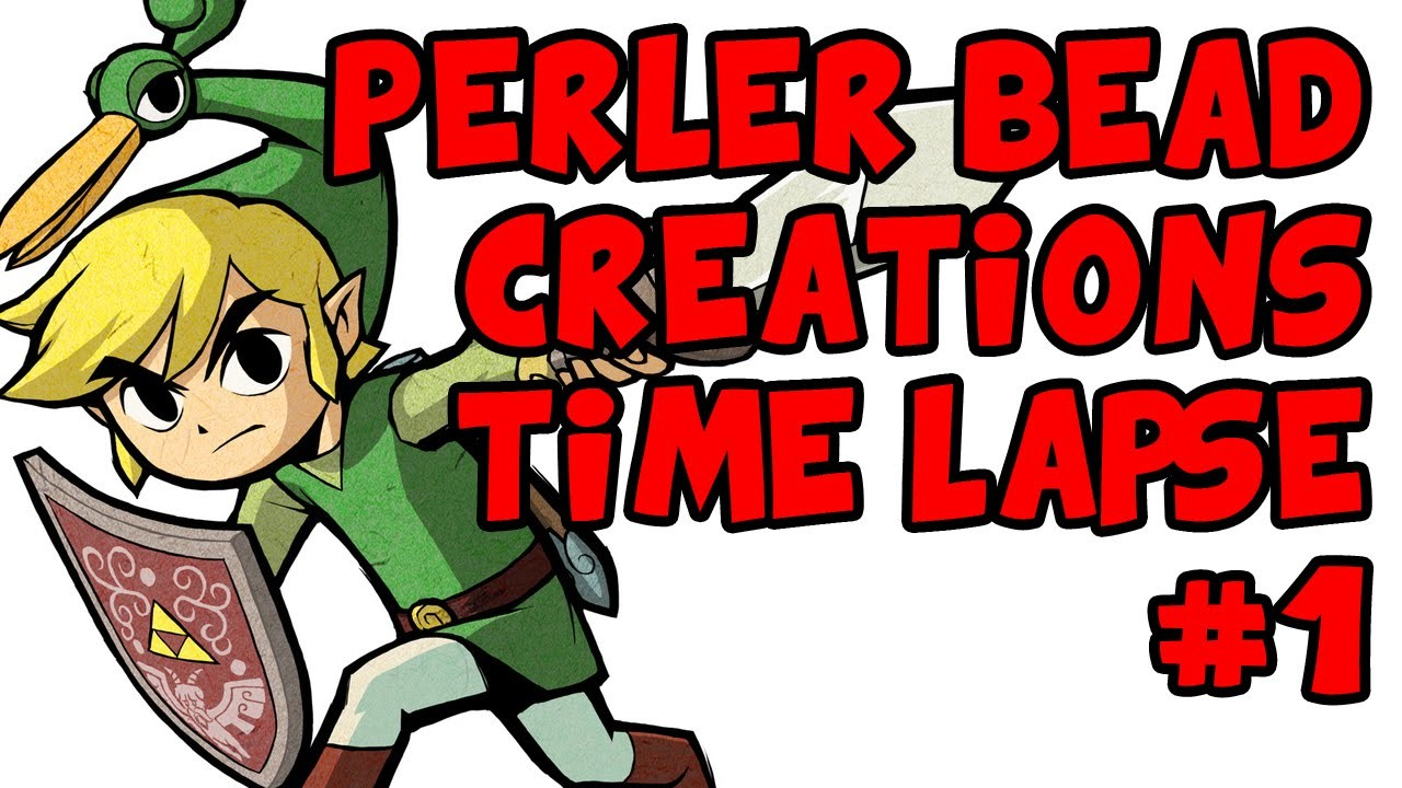 Perler Designs - Link from The Minish Cap (Time Lapse)