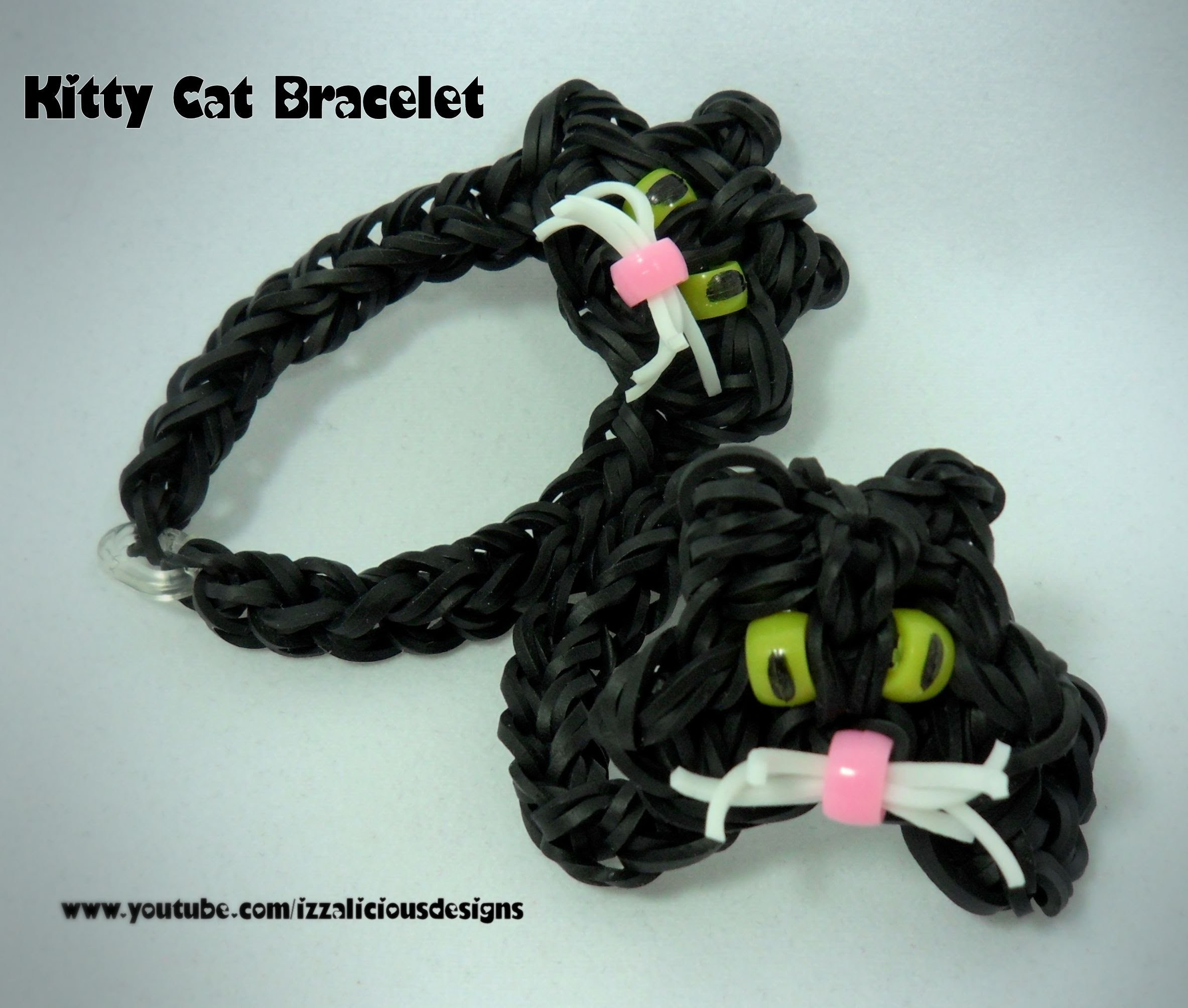 Rainbow Loom Cat Charm Bracelet