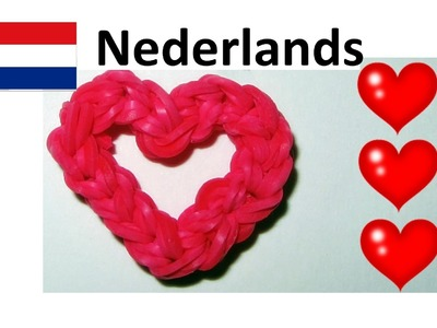 Rainbow Loom Nederlands || Loom bands Hart