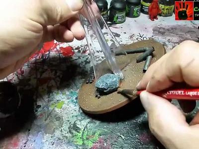 Warhammer 40K Tutorial - Ork Dakkajet bemalen. painting Orc dakkajet - part seven - BASE