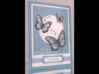 Watercolored Butterfly Card - Nov. 4, 2013