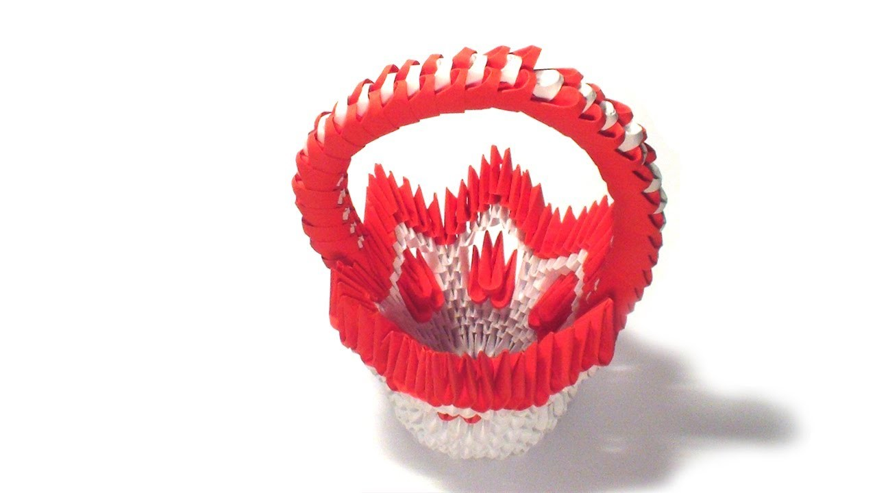 3d origami flower basket tutorial