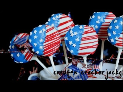 4th of July Flag Cookie Pops - Patriotic Cookie Pop Recipe