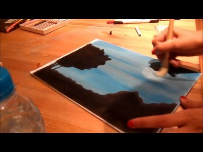 An easy way to draw a night sky with pastels