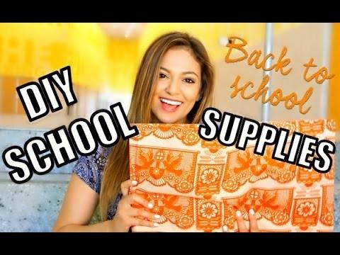 Back To School: 5 Cute + Easy DIY School Supplies + Road Trip Update!