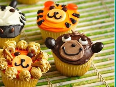 Birthday Cake Ideas: Monkey, Lion, & Zebra Cupcake Ideas