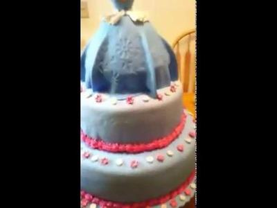 Cinderella fondant cake pretty big cake