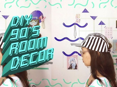 ✄ ~ DIY 90's GEOMETRIC ROOM DECOR + ORGANIZER ~ ✄