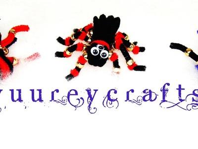 DIY | ACCESORIOS PARA CABELLO ARAÑAS & MURCIELAGOS | HAIR ORNAMENTS SPIDERS & BATS - YuureYCrafts
