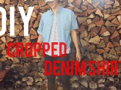 DIY: Custom Denim Shirt ( Cropped )
