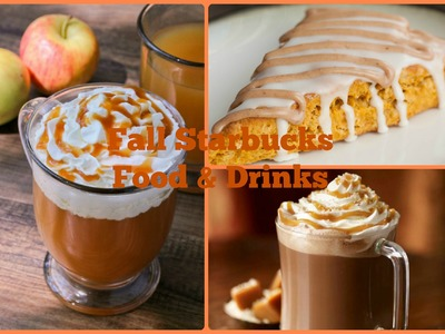 DIY Fall Starbucks Food And Drinks (Salted Caramel Hot Chocolate, Pumpkin Scones, and More!!)
