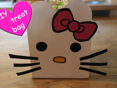 DIY hello kitty treat bag! Hello Kitty Vorlagen! Hello Kitty Dekoideen! Hello Kitty Bags!