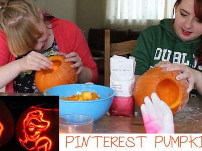 DIY PINTEREST PUMPKIN CARVING | KACI LIKES