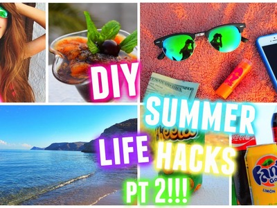 DIY Summer Life Hacks Part 2! ♡ 2015! | Tatiana Boyd
