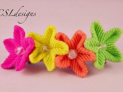 Easy macrame flower