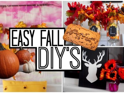 Fall DIY's + Vegan Pumpkin Chocolate Chip Loaf