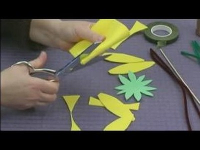 Foam Flower Crafts for Kids : Making Sunflower Petals for Kids' Crafts