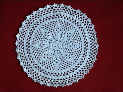 Free Crochet Flower Doily part 2