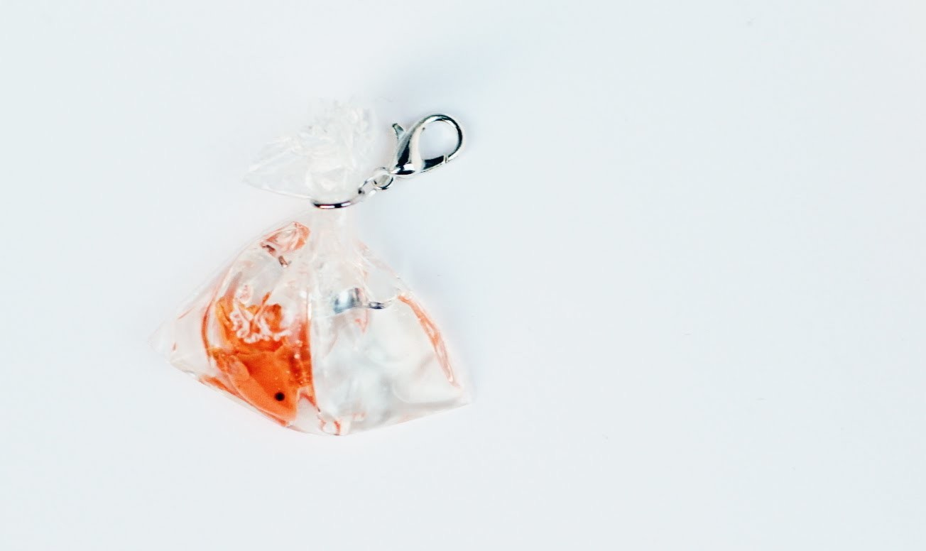 Goldfish Bag Polymer Clay Resin Tutorial