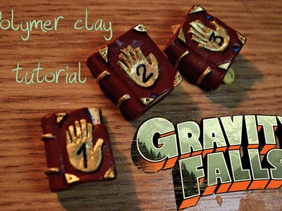 Gravity falls 3 journals polymer clay tutorial