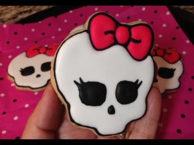 Halloween Monster High Skull Cookies (How To)
