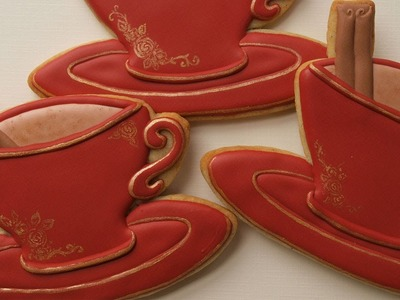 How To Decorate Tea Cup Cookies - Collaboration with Küchenkram | kitchenstuff