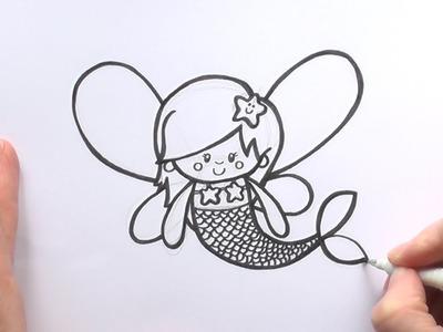 How to Draw a Cartoon Fairy Mermaid