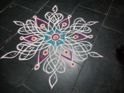 HOW TO DRAW A FUSION KOLAM