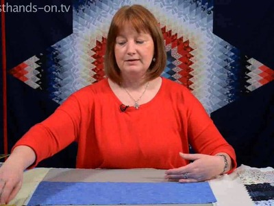 How to finish a Hexagon Quilt by Nancy Adamek