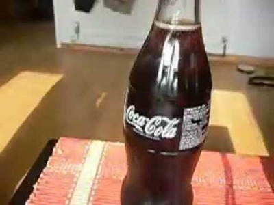 How to freeze coke in 2 seconds, attempt 1