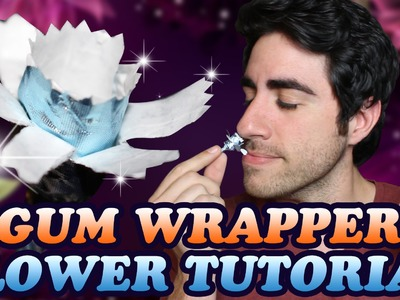 How To Make a Gum Wrapper Flower - DIY