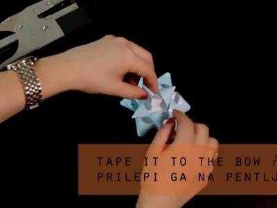 How to make a paper gift bow. Kako narediti pentljo iz papirja