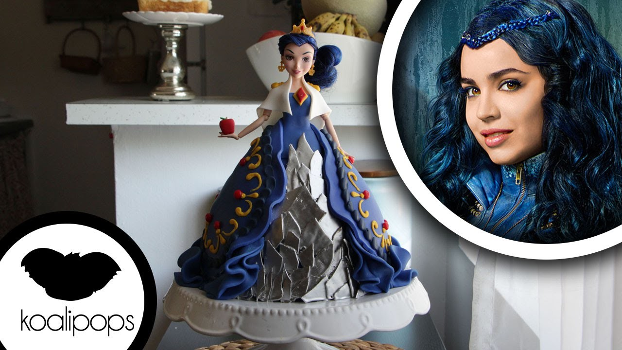 How to make Disneys Descendants: Evie Doll Cake