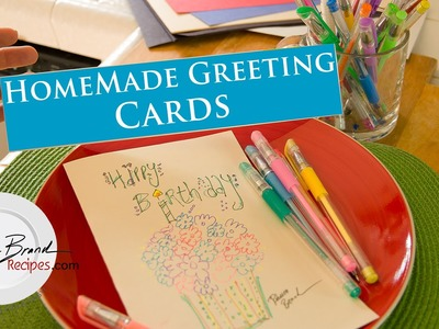 How to Make Homemade Greeting Cards - DIY