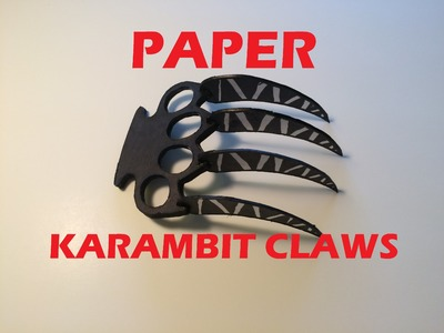 How to Make Paper Karambit Claws| Paper Wolverine Claws
