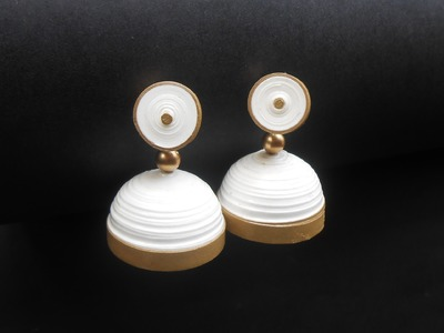 Make Paper Jhumka in 10 min! Tutorial