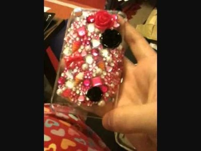 Making A LuxAddiction. Bling Phone Case.