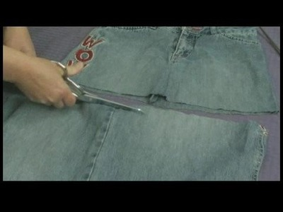 Making Handbags & Carryalls From Recycled Jeans : Make a Jeans Handbag: Cutting Bottom Panel