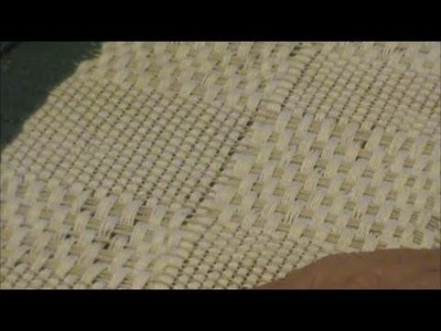 Nancy Today: Weaving M's & O's pattern, floor loom (weaving 127) ASMR weaving