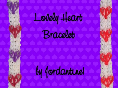 New Lovely Heart Bracelet - Monster Tail or Rainbow Loom -Valentine's Day