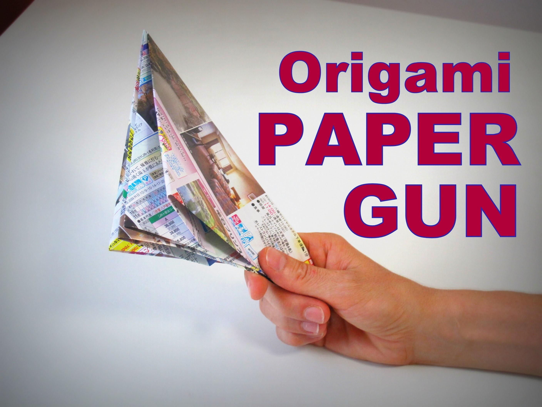 Origami - How to make a PAPER POP GUN