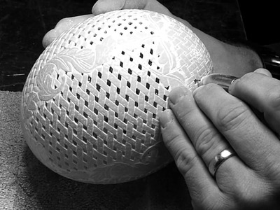 Ostrich Egg carving