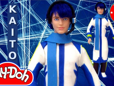 Play Doh KAITO Vocaloid Inspired Costume Play-Doh Craft N Toys