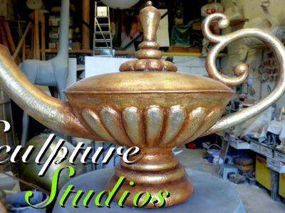 Polystyrene. Styrofoam Aladdin Lamp by Sculpture Studios