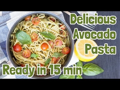 Quick and Creamy Avocado Pasta | Hurry The Food Up