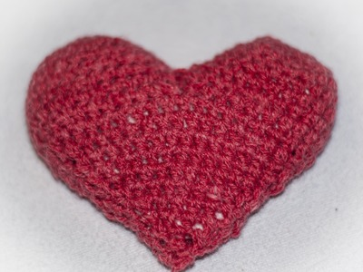 Serce 3d na szydełku. Heart 3d crochet