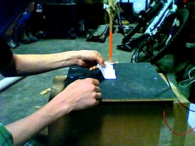 Simple homemade hot wire foam cutter