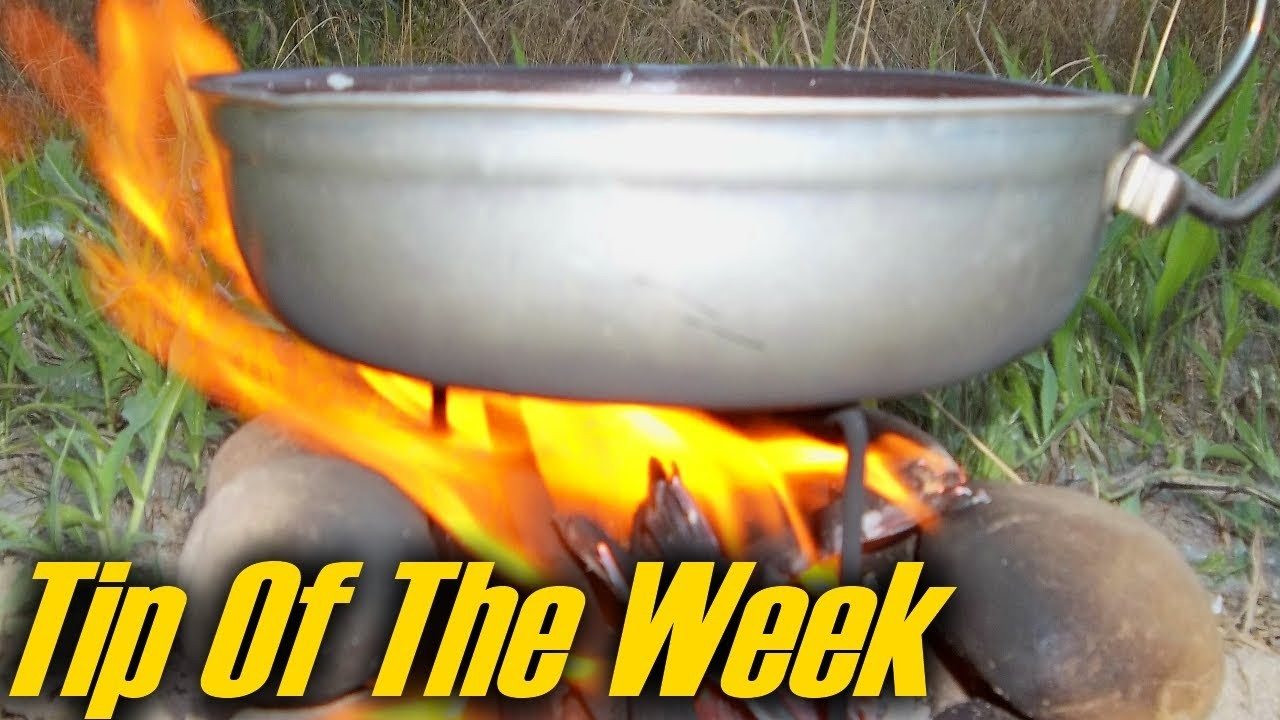 Tent Stake Stove & Campfire Grill -