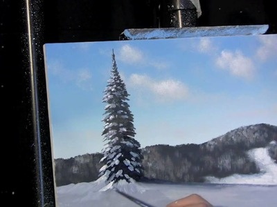 Time Lapse Acrylic Painting Winter Landscape Lesson Preview by Tim Gagnon http:.www.timgagnon.com