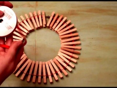 12 Days of Creative Reuse, Holiday Wreath Card Holder